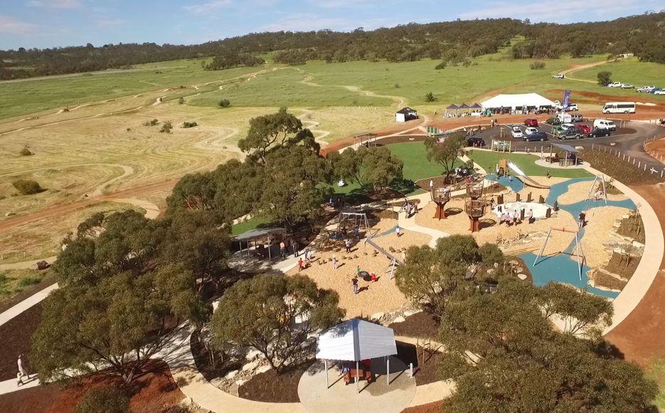 Birdseye Studios Playground and Trail Hub Cobbler Creek Recreation Park