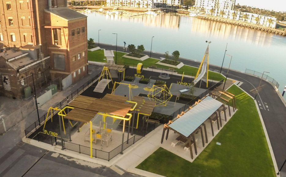 Hart 39 s mill surrounds port adelaide sa landscape for Landscape architects in adelaide